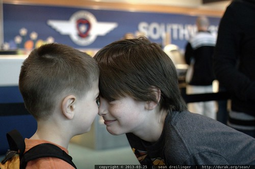 brotherly bonding ritual at the southwest air desk?    MG 3664