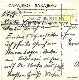 Sarajevo, femmes musulmanes, 1932, verso (détail)