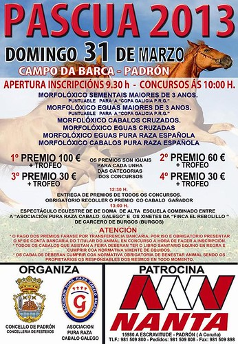 Padrón 2013 - Pascua - cartel feira cabalar