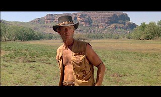 Paul Hogan, as ''Crocodile Dundee'' 1986