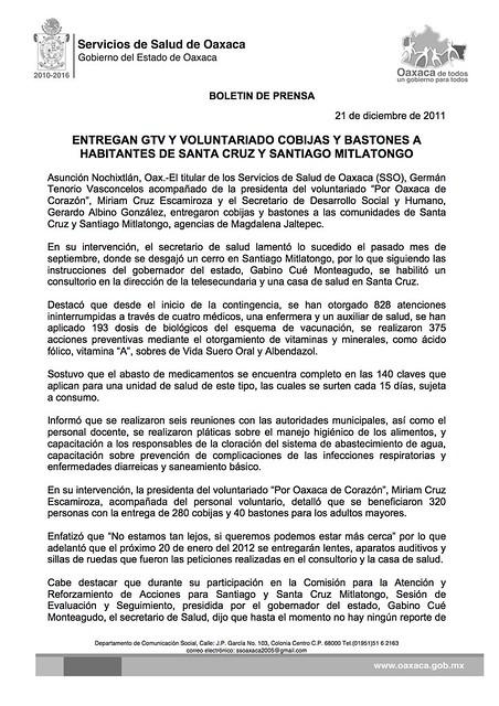 21/12/2011 ENTREGA GTV Y VOLUNTARIADO COBIJAS Y BASTONES A HABITANTES DE SANTA CRUZ Y SANTIA_0