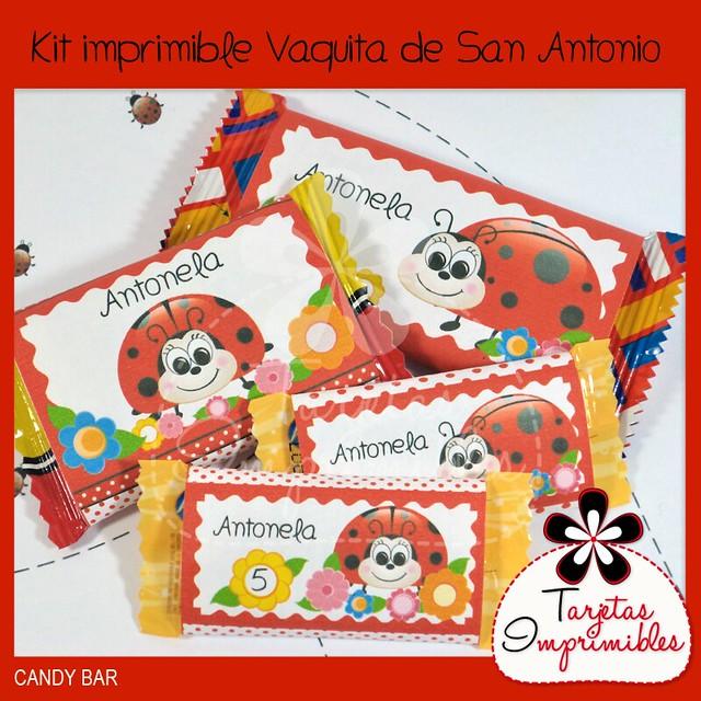 Colecci  N De Decoraciones Imprimibles Vaquitas De San Antonio