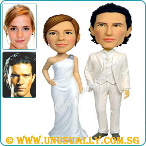 Personalized 3D Trendy Wedding Couple Figurines - @www.unusually.com.sg