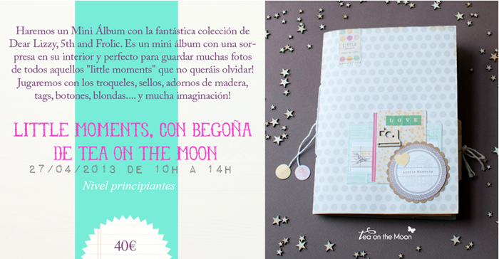 Cromatismes taller scrapbook tea on the moon