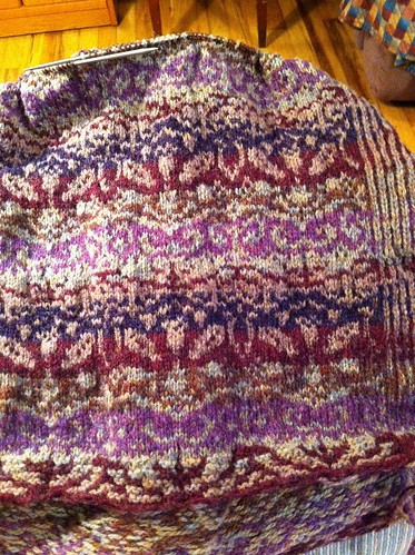 On third repeat of Zauberflote body - love the colors and the yarns! by BlueDragon2