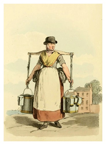 005- Vendedora de leche- Picturesque representations of the dress and manners of the English-1813-William Alexander