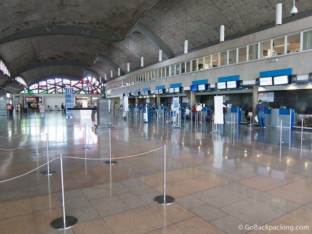 Check-in desks at Olaya Herrera Airport
