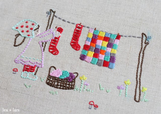 laundry day embroidery - a little sweetness