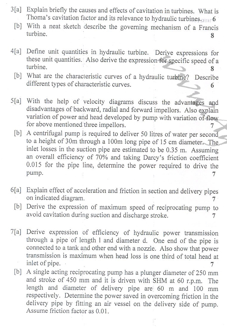DTU Question Papers 2010 – 6 Semester - End Sem - ME-313