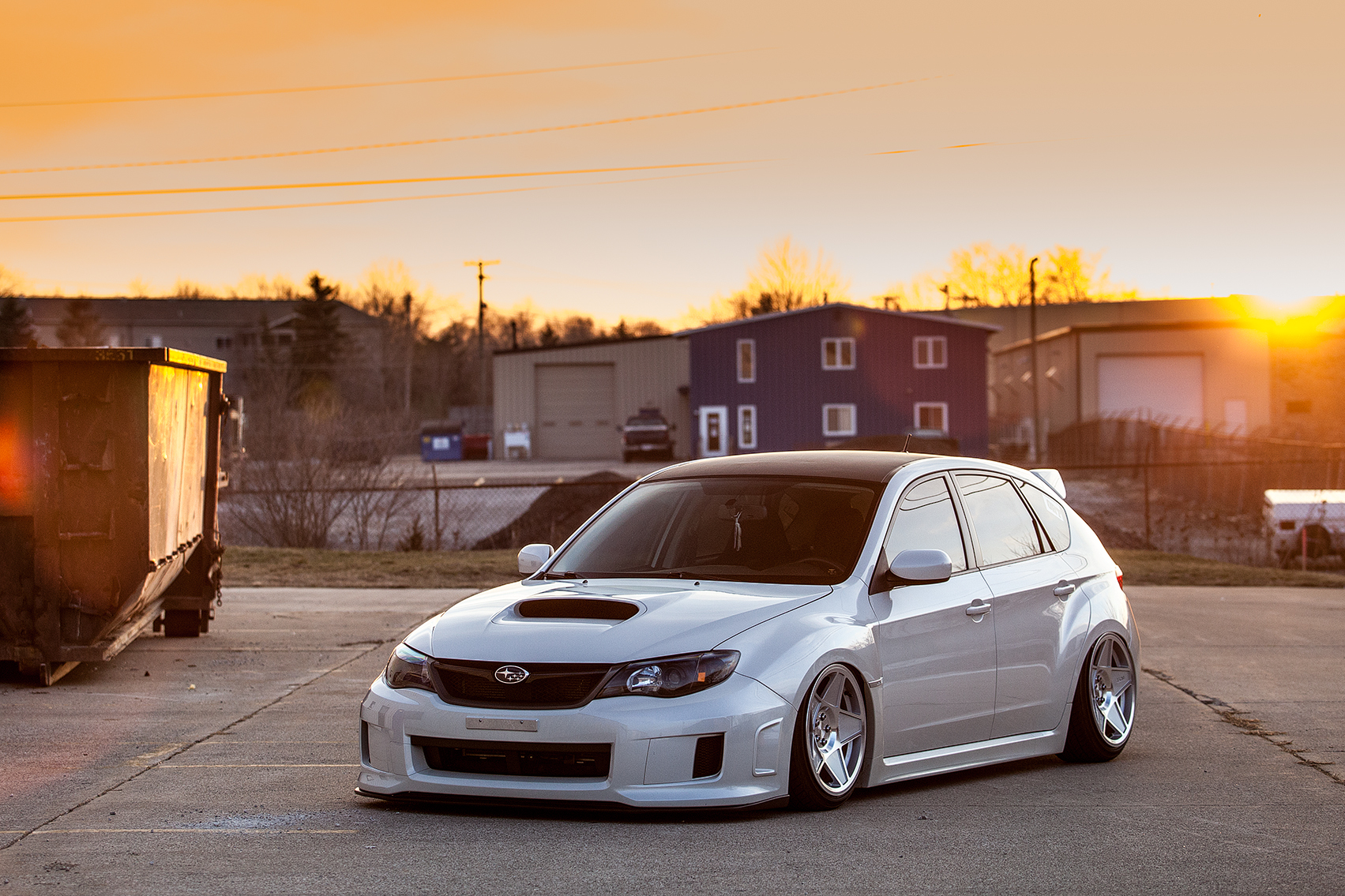 Who Is Running 9 Quot Wheels On A Wrx Wagon Post Your Setup