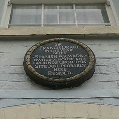 Photo of Francis Drake green plaque