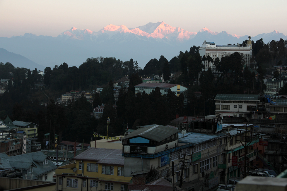 Sunrise view of Darjeeling, India