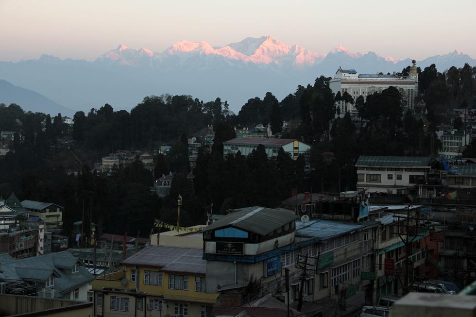 Sunrise view of Darjeeling, India