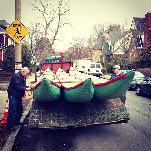 Drive Slow, Swan Boats on Board. Opens Saturday in Boston. #cnnireport by stevegarfield