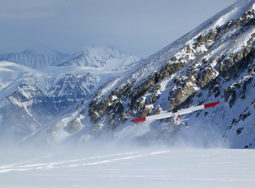 Plane access ski touring in Wrangell St Elias National Park Alaska with Wild Alpine Guides