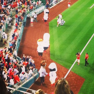 Favorite part of the game, the presidents race! #natitude