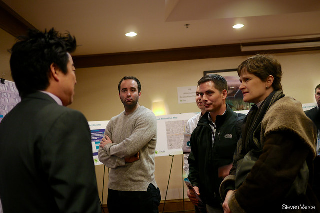 Concerned citizens at the Circle Interchange public meeting