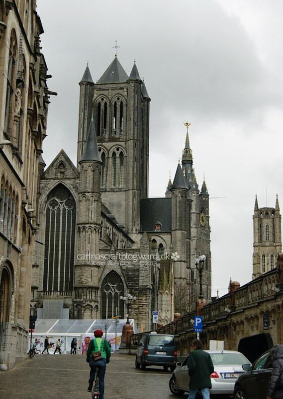 Sint-Niklaaskerk seen from Pakhuisstraat, Gent