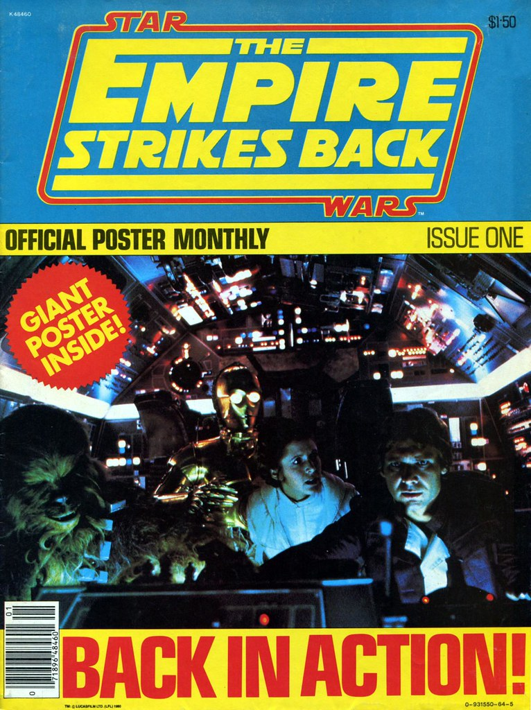 star wars empire strikes back poster magazine 1 1980