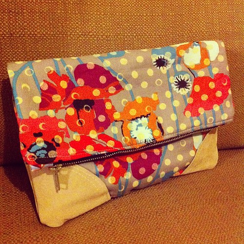 Fold-over pouch a la @lbgstudio for #thestashbash swap! #stashbash #pastmybedtime