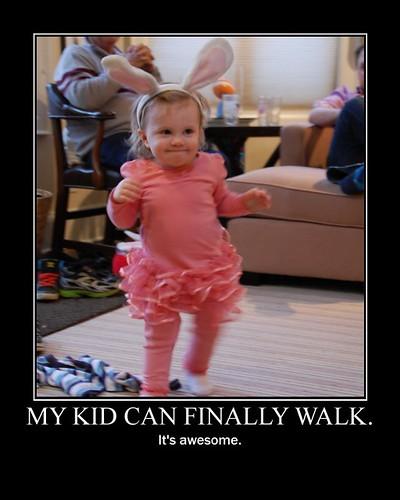 she walks!