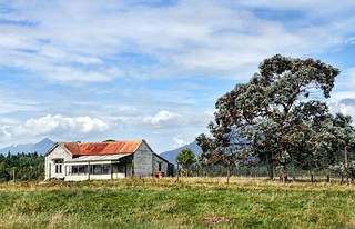 Old house, Humphreys, Arahura Valley, West Coast, New Zealand.