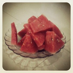 watermelon, vegetable, produce, fruit, food, dish,