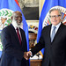 Secretary General Meets Minister of Foreign Affairs of Belize