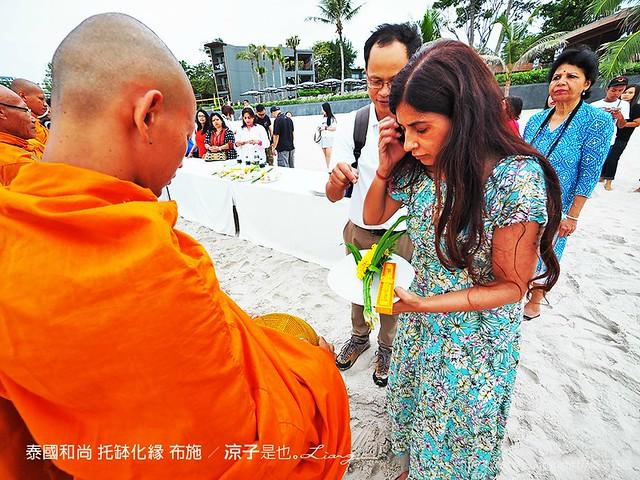 泰國和尚 托缽化緣 布施 11