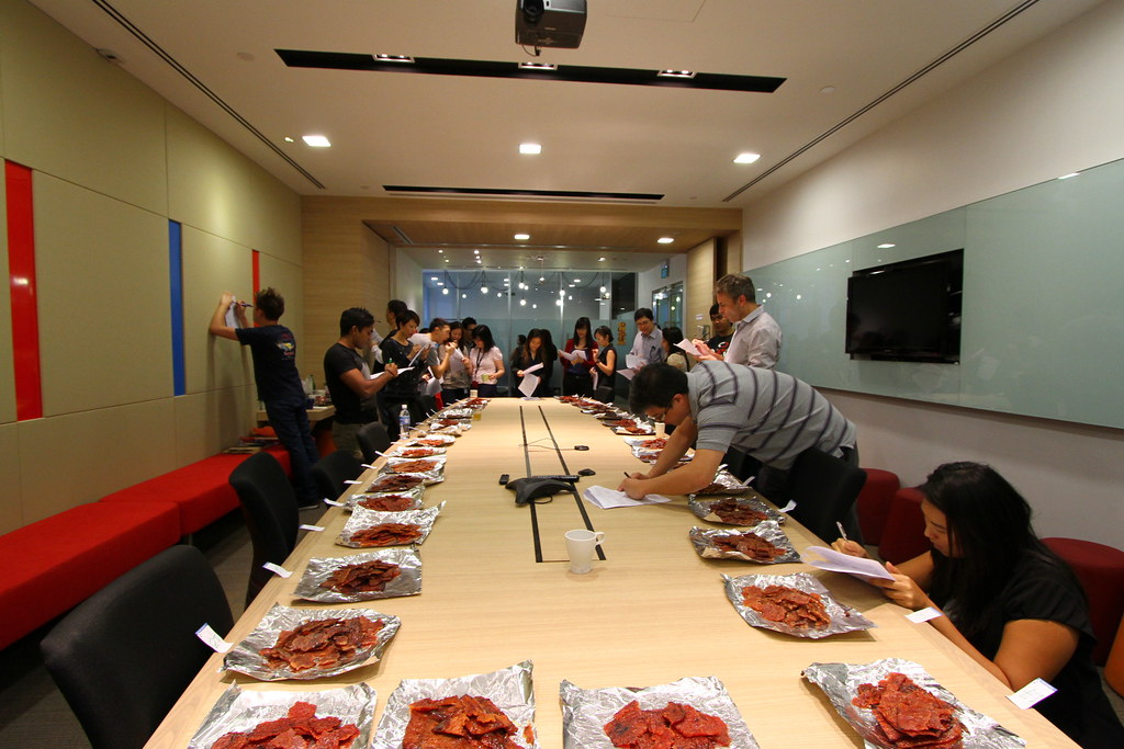 The Ultimate Bak Kwa Taste Test: Participants Writing Reviews
