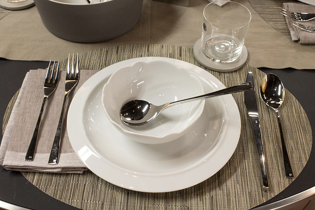 Alessi Dinnerware | Settings with a Chilewich Oval Bamboo ...