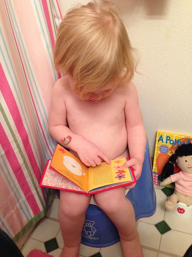 Reading on the potty