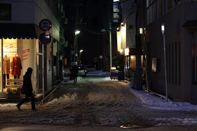 路地の積雪