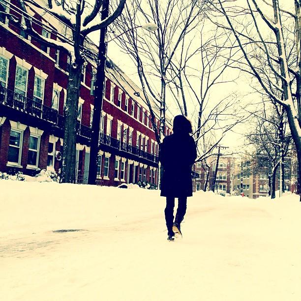 taking a walk with @annakristina28 #snow #blizzard #nemo #2013 #igboston #iheartboston