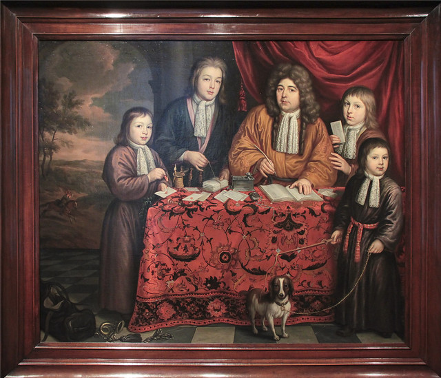 Lambert Twent, postmaster of Delft, and his sons, Martin de la Court 1695