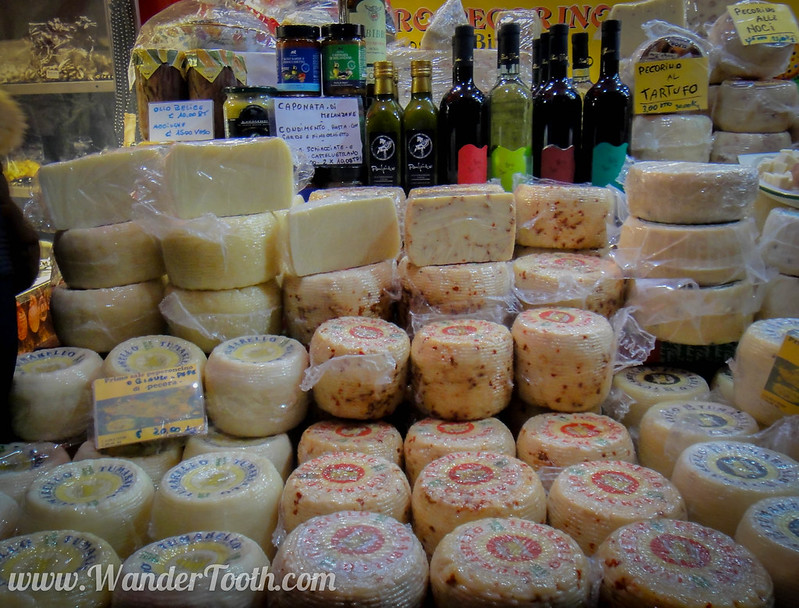 Italian Cheese at Milan Christmas Market