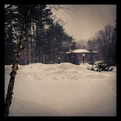 Winter Wonderland... it's snowing again. #newengland #snow #manchvegas #winter
