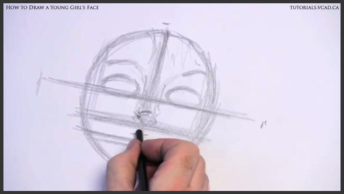 learn how to draw a young girls face 004