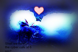 2chicken in love