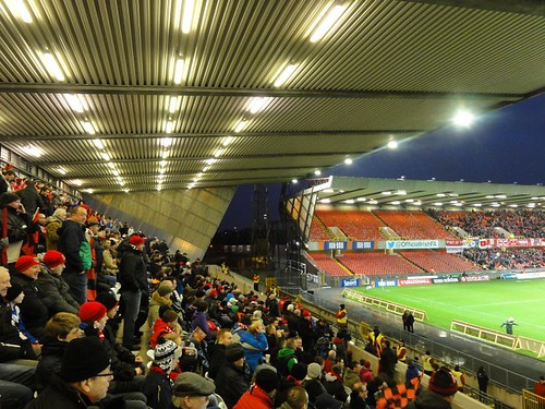 Crues fans in the Kop at Windsor Park
