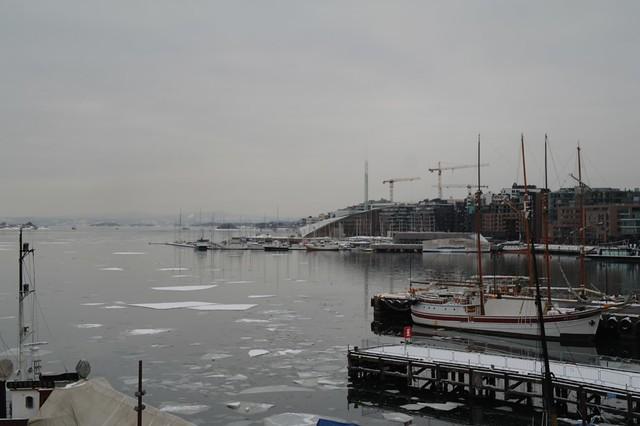 Aker Brygge Wharf from Oslo Fort