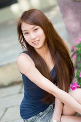 [フリー画像素材] 人物, 女性 - アジア, 台湾人, タンクトップ ID:201302260800