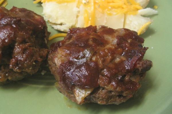 Mini Meatloafs, plate
