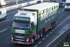 Volvo FH 6x2 Tractor - PX11 BYT - Hilary Janet - Eddie Stobart - M1 J10 Luton - Steven Gray - IMG_0435