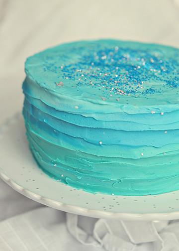Blue Swirls Cake