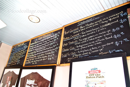Menu at Cafe Beignet (New Orleans)
