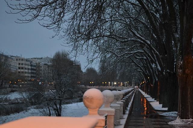 snow in Burgos, Spain