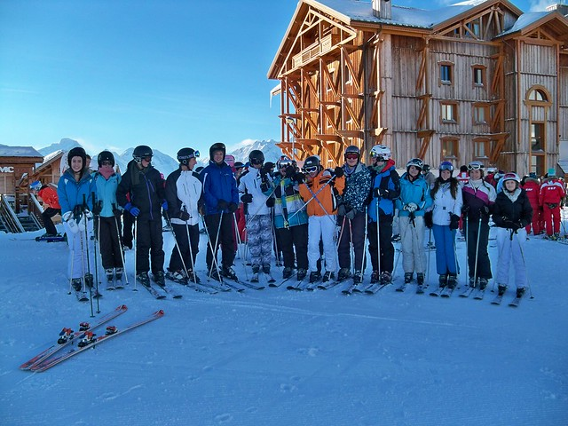 group shot on the slopes 2