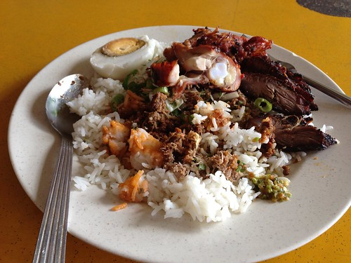 Nasi Kerabu Ayam & beef