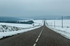 Balade dans la neige - Sur la route